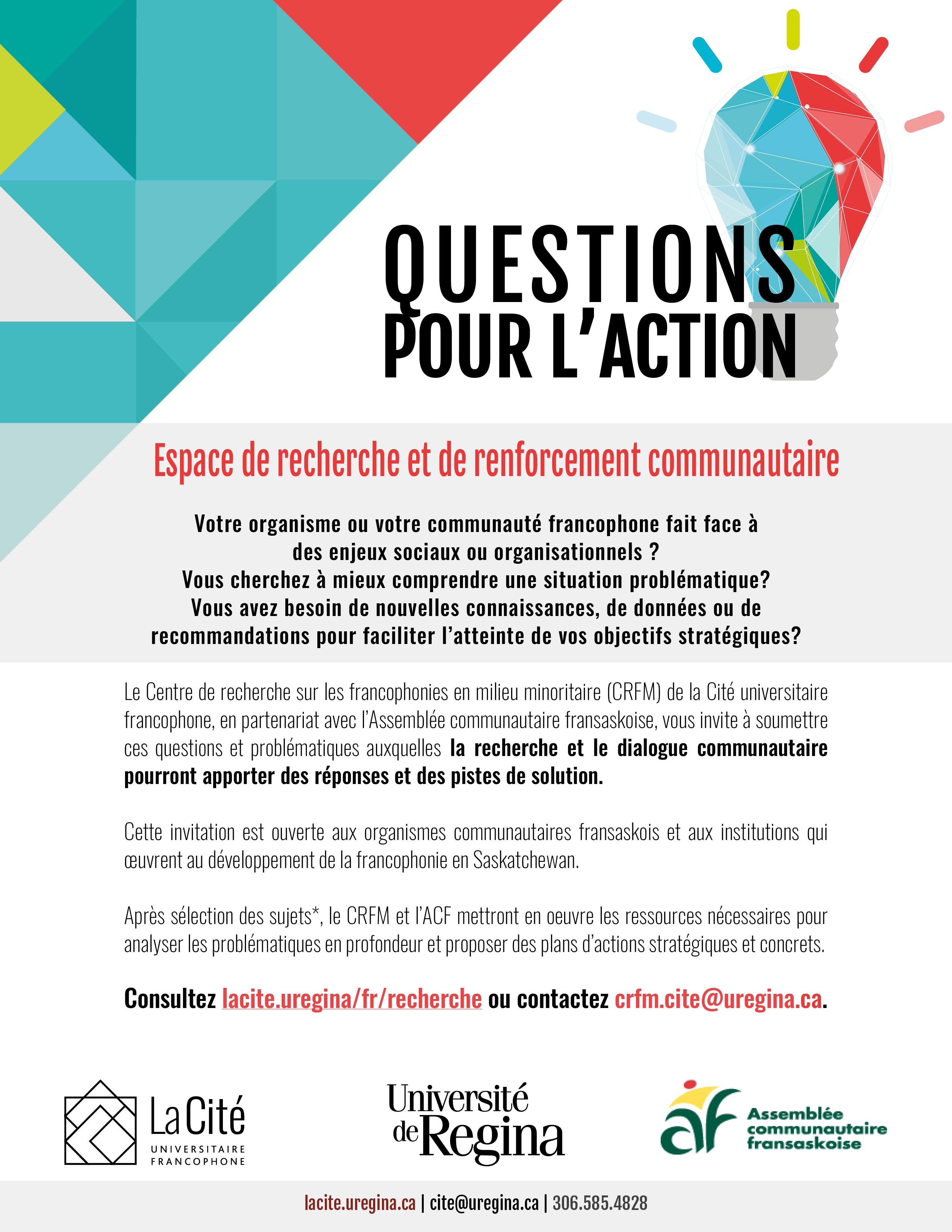 la cit eacute questions pour l action program questions pour l action 2017 annonce